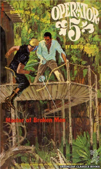 Corinth Regency CR128 - Master of Broken Men by Curtis Steele, cover art by Robert Bonfils (1966)