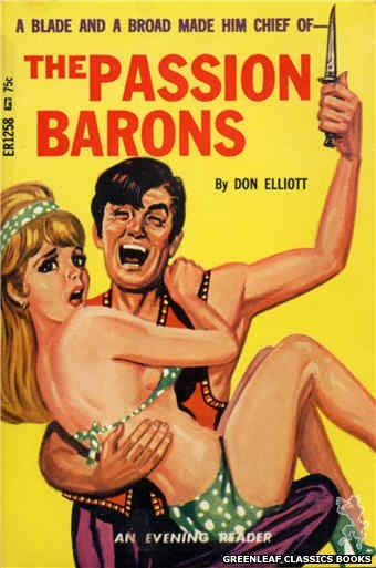 Evening Reader ER1258 - The Passion Barons by Don Elliott, cover art by Tomas Cannizarro (1966)