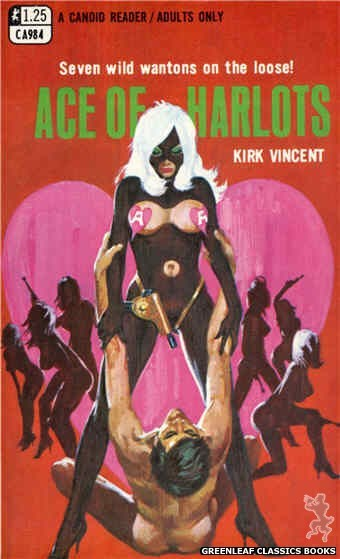Candid Reader CA984 - Ace Of Harlots by Kirk Vincent, cover art by Robert Bonfils (1969)