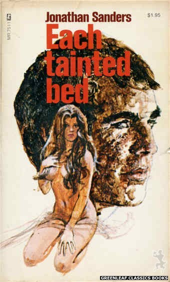 Midnight Reader 1974 MR7511 - Each Tainted Bed by Jonathan Sanders, cover art by Unknown (1974)