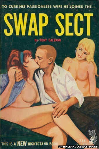 Nightstand Books NB1738 - Swap Sect by Tony Calvano, cover art by Unknown (1965)