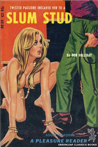 Pleasure Reader PR109 - Slum Stud by Don Holliday, cover art by Tomas Cannizarro (1967)