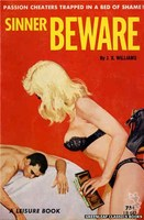 LB642 Sinner Beware by J.X. Williams (1964)