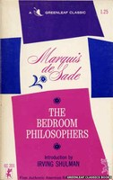 GC201 The Bedroom Philosophers by Marquis de Sade (1965)
