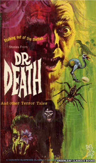 Corinth Regency CR129 - Stories From Dr. Death and Other Terror Tales by Jon Hanlon (Editor), cover art by Robert Bonfils (1966)