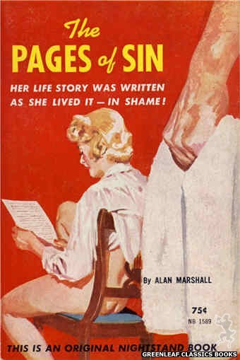Nightstand Books NB1589 - The Pages of Sin by Alan Marshall, cover art by Harold W. McCauley (1962)