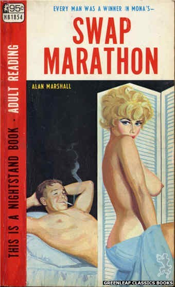 Nightstand Books NB1854 - Swap Marathon by Alan Marshall, cover art by Unknown (1967)