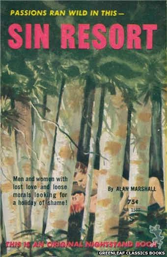 Nightstand Books NB1580 - Sin Resort by Alan Marshall, cover art by Harold W. McCauley (1961)